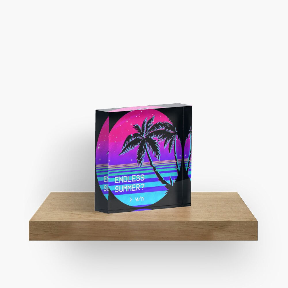 Endless Summer (Vaporwave) Acrylic Block