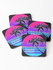 Endless Summer (Vaporwave) Coasters
