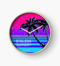 Endless Summer (Vaporwave) Clock