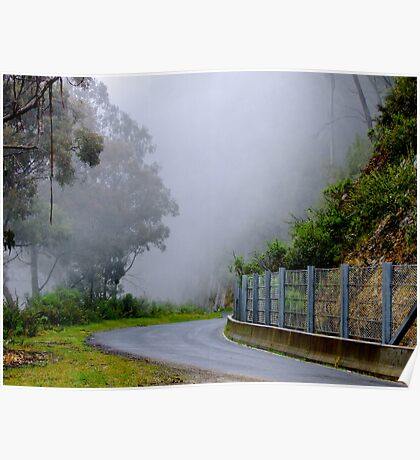 Misty Mountain Pass - Thredbo, New South Wales Poster