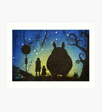 Small Spirits (Totoro) Art Print