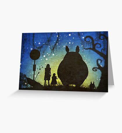 Small Spirits (Totoro) Greeting Card