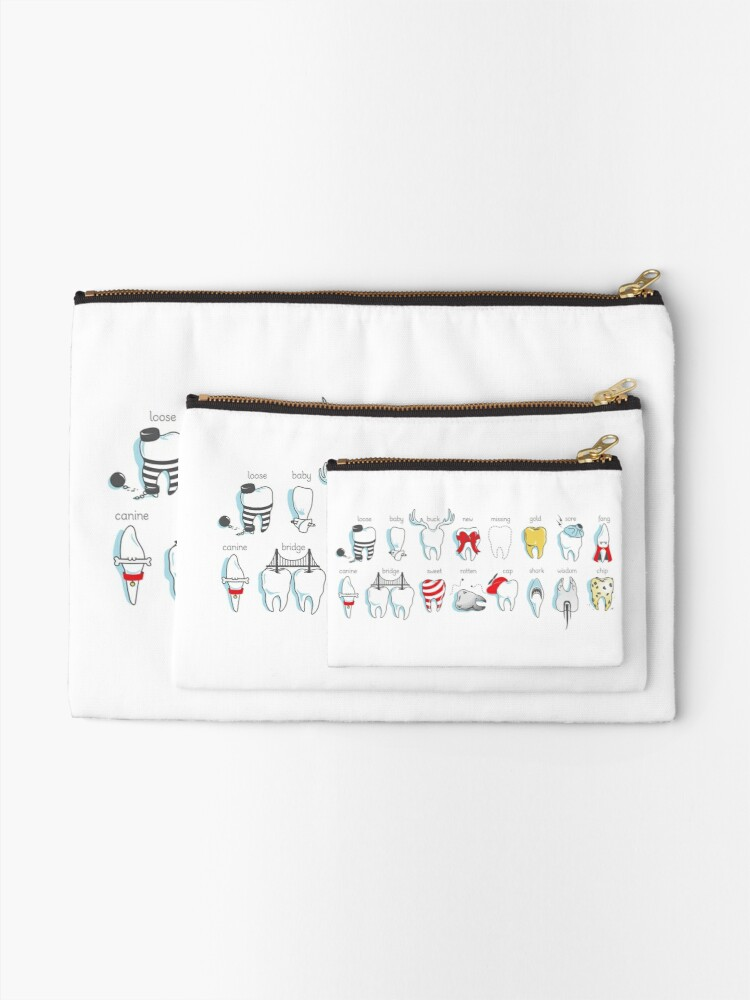 Alternate view of Dental Definitions Zipper Pouch
