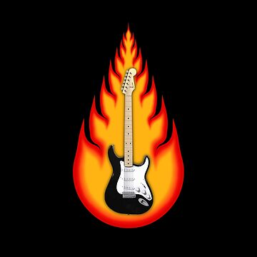 Guitar in Flames by bradyarnold