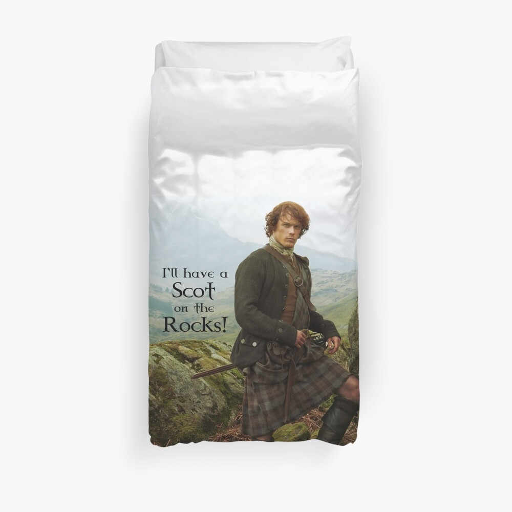 I'll have a Scot on the Rocks!  Duvet Cover