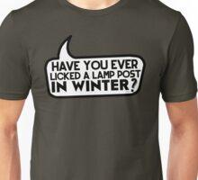 Lamp Post in Winter Unisex T-Shirt