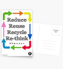 Reduce reuse recycle re-think Postkarten