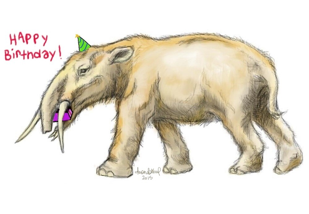 Happy Birthday Gomphotherium by sneercampaign