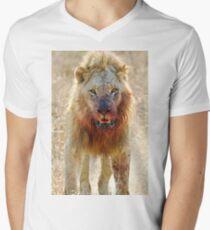 Majingilane - Male Lion - Hyena Intimidation Men's V-Neck T-Shirt