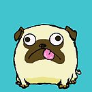 Silly Pug Sticking Out Tongue by sneercampaign