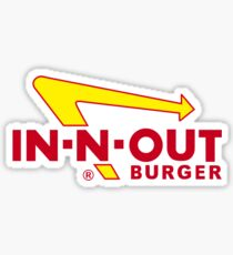 IN N OUT LOGO Sticker