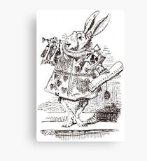 White Rabbit Illustration Canvas Print