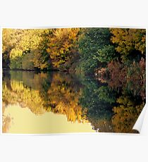 Autumn on Sankey Valley Canal Poster