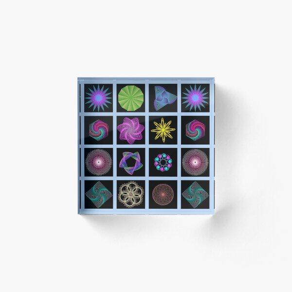 Beautiful colorful geometric shapes Acrylic Block