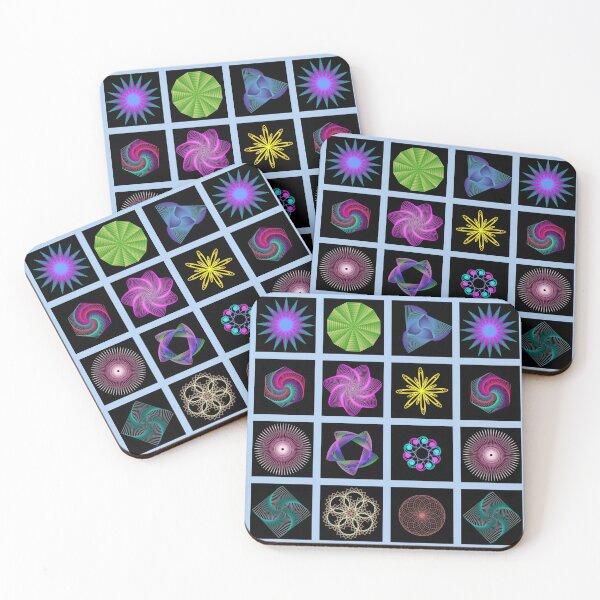 Beautiful colorful geometric shapes Coasters (Set of 4)