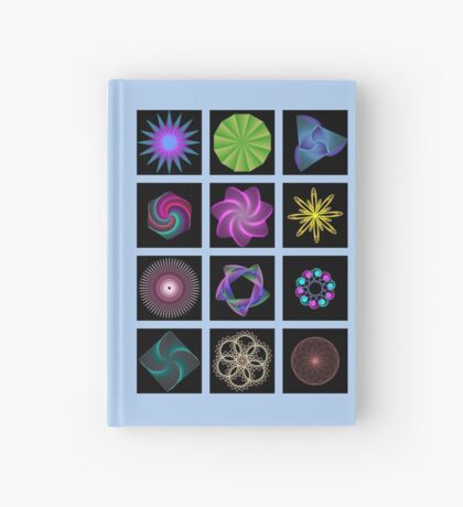 Beautiful colorful geometric shapes Hardcover Journal