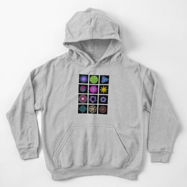 Beautiful colorful geometric shapes Kids Pullover Hoodie