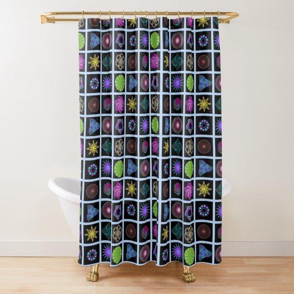 Beautiful colorful geometric shapes Shower Curtain