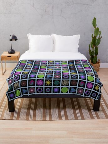 Beautiful colorful geometric shapes Throw Blanket