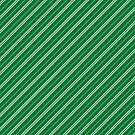 Stripes (Thin) - Green and Silver by Sarinilli