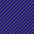Stripes (Thin) - Blue and Bronze by Sarinilli
