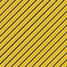Stripes (Thin) - Yellow and Black by Sarinilli
