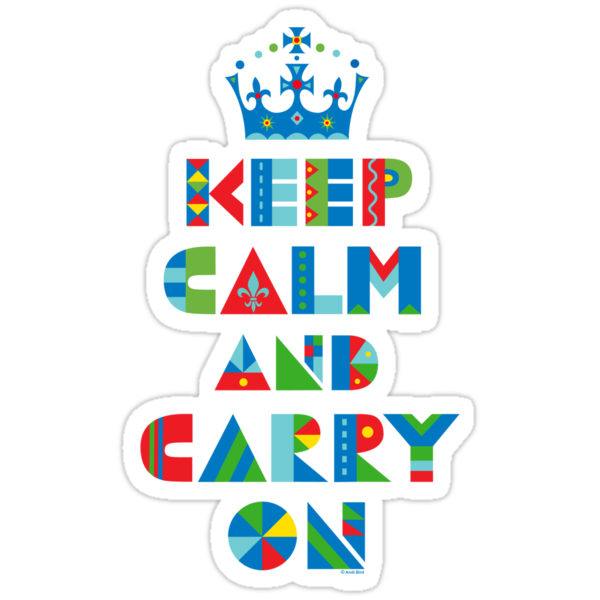 Keep Calm Carry On - on lights by Andi Bird