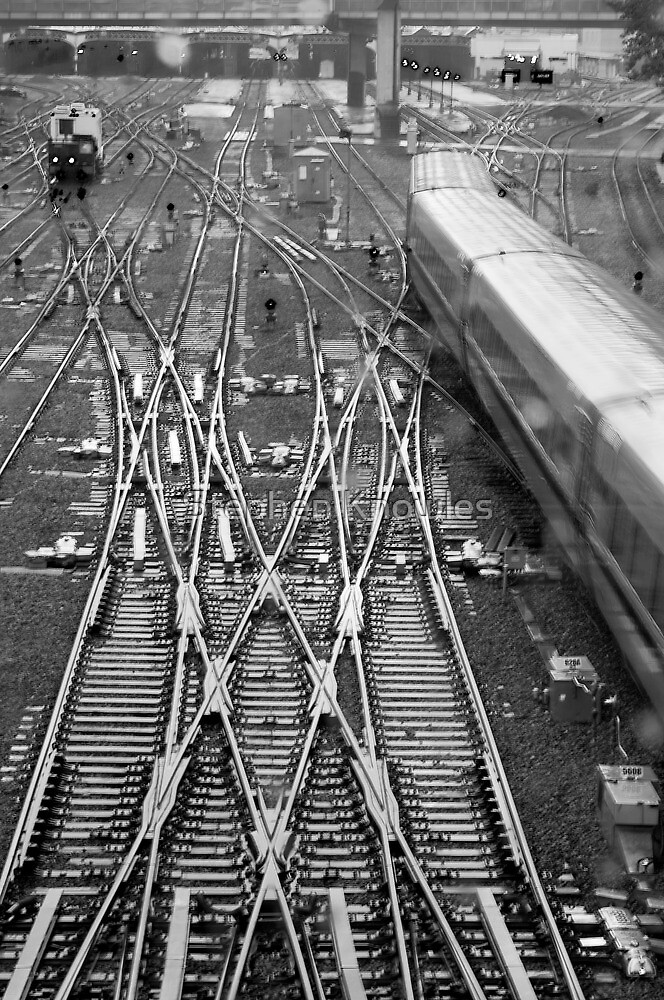 Over the tracks by Stephen Knowles