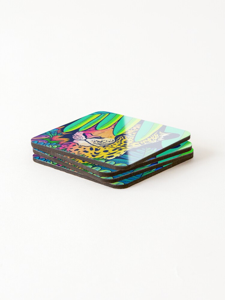 Alternate view of Jungle leopard Coasters (Set of 4)