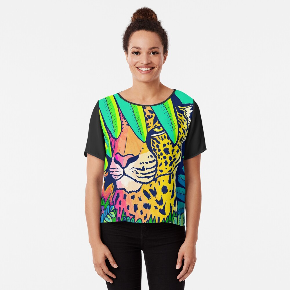 Jungle leopard Chiffon Top