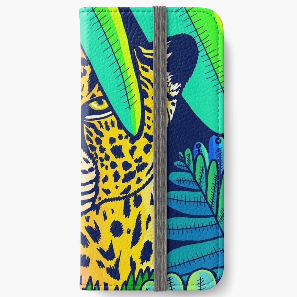 Jungle leopard iPhone Wallet