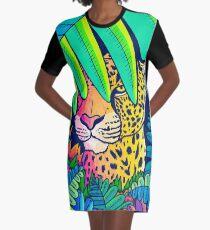 Jungle leopard Graphic T-Shirt Dress