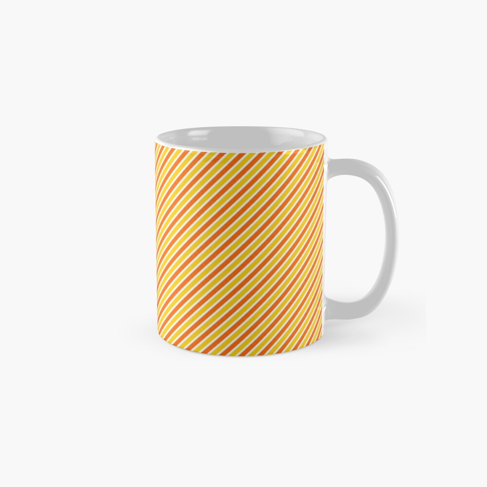 Candy Corn Stripes - Thin Mug