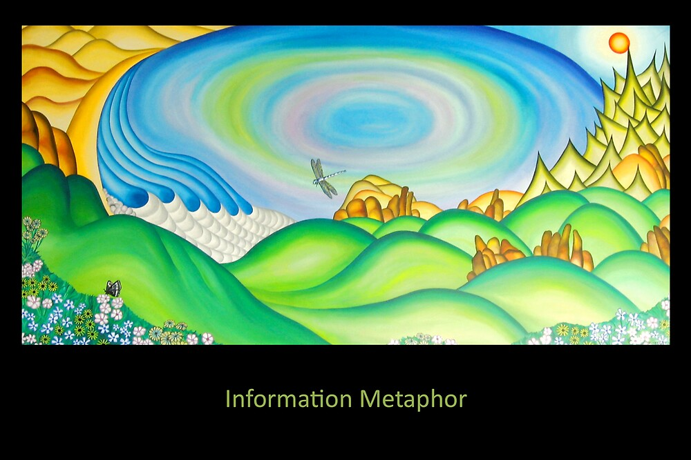 Information Metaphor - Painting by Keith Nesbitt