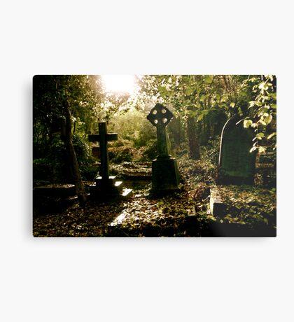 Tombstones in Highgate Cemetery (West) Metal Print