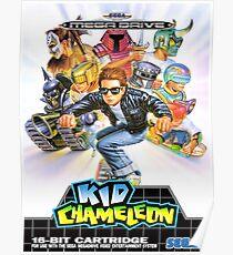 Kid Chameleon Mega Drive Cover Poster