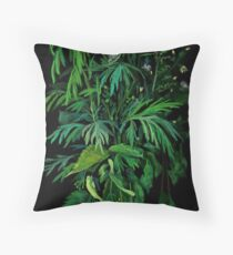 Green and Black, summer greenery, wildflowers, floral art, Floor Pillow