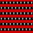 Skull Stripes Red by Sarinilli