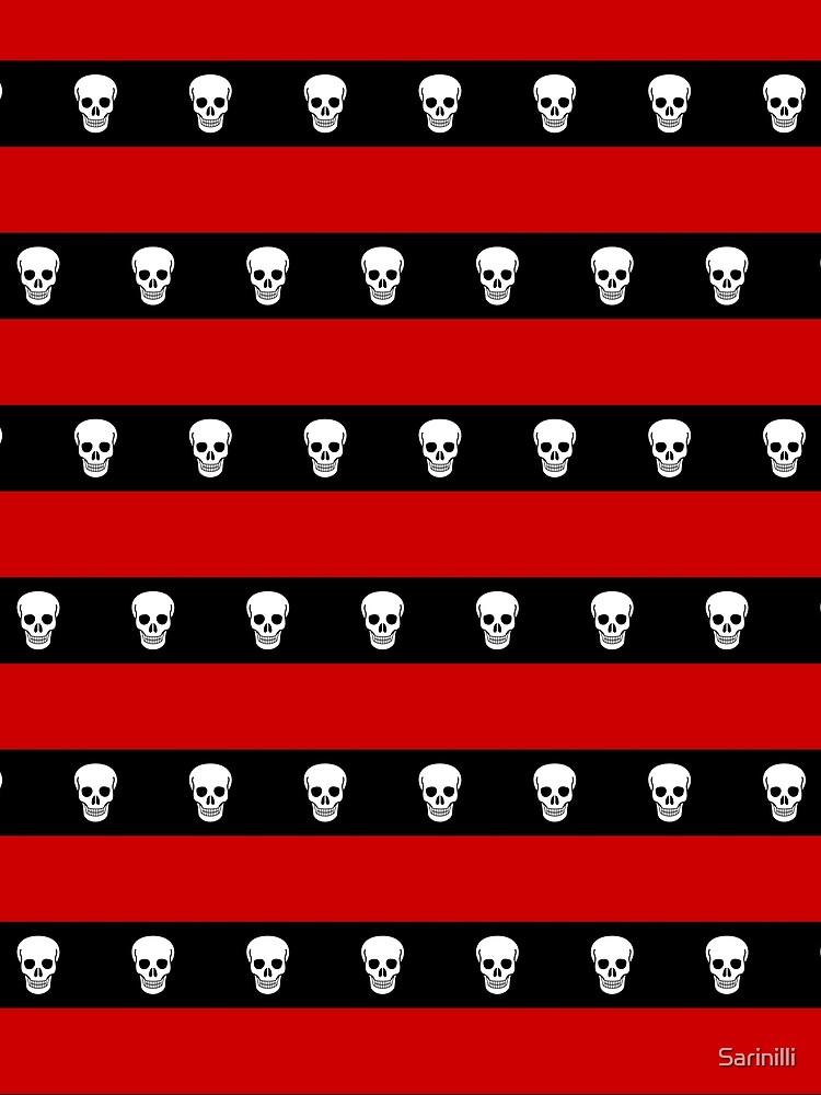 Skull Stripes Red by Sarinilli