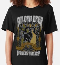 Golden Deer Crest Slim Fit T-Shirt