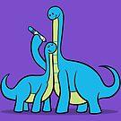Dinosaur Growth Chart (Blue Dinos) by RyanAstle