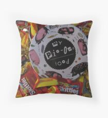 My Pig-Out Food! Throw Pillow
