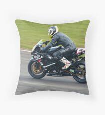 Suzuki GSXR track bike Throw Pillow