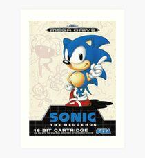 Sonic the Hedgehog Mega Drive Cover Art Print