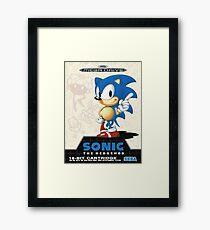 Sonic the Hedgehog Mega Drive Cover Framed Print