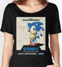 Sonic the Hedgehog Mega Drive Cover Women's Relaxed Fit T-Shirt