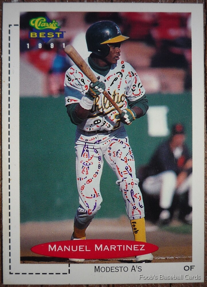 495 - Manuel Martinez by Foob's Baseball Cards