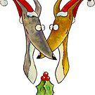 Christmas Love Hounds by Jokertoons
