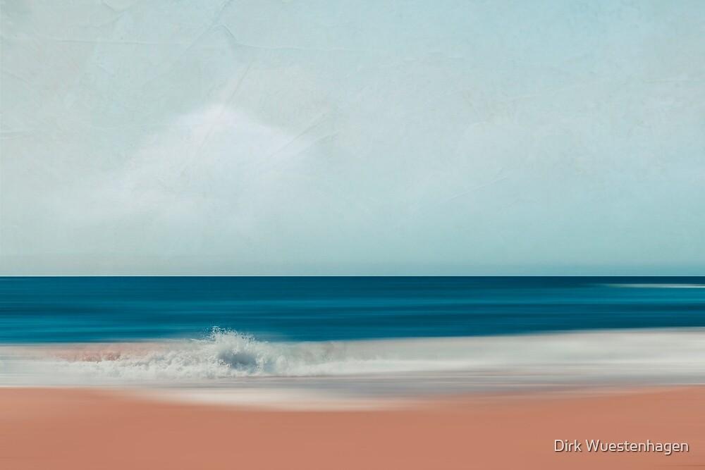 the sea says - abstract beach scenery by Dirk Wuestenhagen