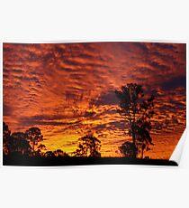 Sunset over Rural Australia. Poster
